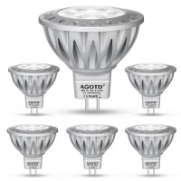 AGOTD 7 Watt GU5.3 12V LED Bulb Spot Warm white Soft white 2700K - 50W Replacement - Narrow Beam 38 Degree Angle. Pack of 6