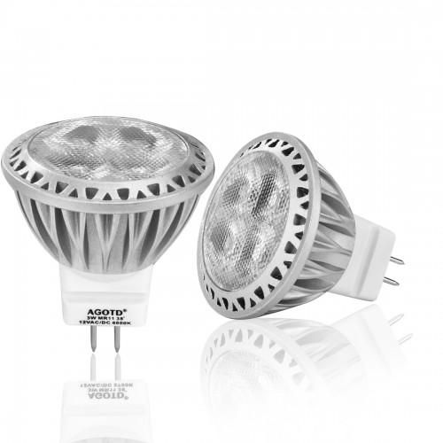 3 watt mr11 gu4 smd led bulb cool white. Black Bedroom Furniture Sets. Home Design Ideas